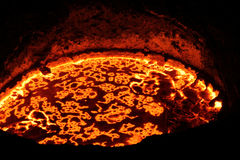 Iron smelting in Furnaces Stock Image