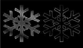 Iron snowflake Royalty Free Stock Photo