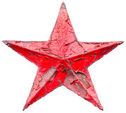 Iron socialist red star Royalty Free Stock Image