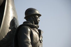 Iron soldier. Upper part of iron soldier statue royalty free stock photos