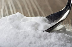 Iron spoon of baking soda Stock Images