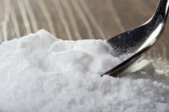 Iron spoon of baking soda Stock Images