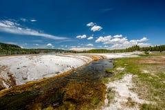 Iron Spring Creek in Yellowstone. National Park, Black Sand Basin area, Wyoming, USA Royalty Free Stock Photos