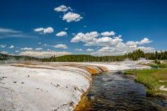 Iron Spring Creek in Yellowstone. National Park, Black Sand Basin area, Wyoming, USA Stock Photos