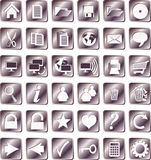 Iron squared icons Stock Photos