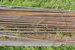 Iron stack on the grass. Royalty Free Stock Images
