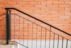 Iron stair against brick wall Royalty Free Stock Image
