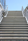 İron stair. It is a iron stairway up to the sky Royalty Free Stock Photography
