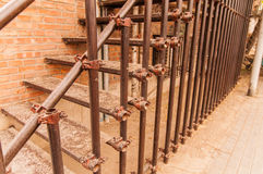 Iron stair at 798 street,Beijing on 25 May 2013 Royalty Free Stock Photo