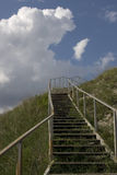 The iron staircase leading up against the sky Royalty Free Stock Images