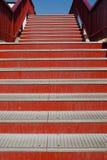 Iron stairs detail Royalty Free Stock Photos
