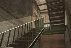 Iron Stairway Royalty Free Stock Images