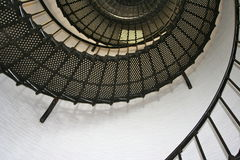 iron stairwell inside lighthouse2 Royalty Free Stock Image