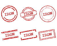 Iron stamps Stock Images