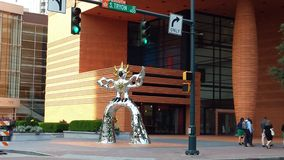 Iron Statue. Statue of Charlotte downtown museum Royalty Free Stock Photo