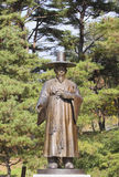 Iron statue of confucian officer. Middle Ages Asia Royalty Free Stock Photography