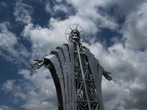 Iron statue of Jesus Christ. Nearby Szekelyudvarhely/Odorheiu Secuiesc Romanian Stock Photography