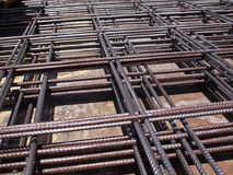 Iron steel bars construction material. Used to reinforce concrete royalty free stock photography