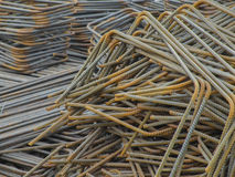 Iron steel bars construction material. Used to reinforce concrete Stock Photography