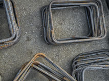 Iron steel bars construction material. Used to reinforce concrete Stock Image