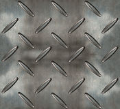 Iron and steel  floor plate  with diamond motives Royalty Free Stock Images