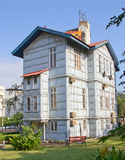 Iron (Steel) house. Famous Iron (Steel) house build by Gustave Eiffel in Maputo Mozambique Royalty Free Stock Photos