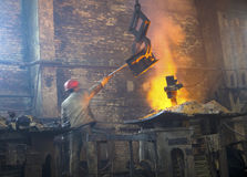 Iron and steel industry Royalty Free Stock Photo