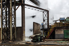 The iron and steel industry landscape in steel mills Royalty Free Stock Photos