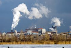 Iron and steel metallurgical Plant Royalty Free Stock Photo