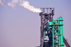 Iron and Steel Plant. The blast furnace of iron and steel plant Stock Image