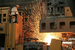 Iron and steel production scene Stock Photography