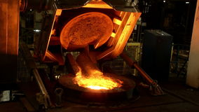 Iron, steel smelting stock video footage