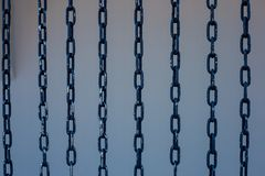 Iron steel strength chains royalty free stock image