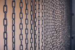 Iron steel strength chains. With white background texture meaning to no freedom Stock Image