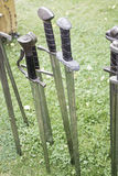 Iron and steel swords Royalty Free Stock Photography
