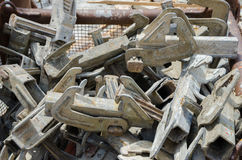 Iron and steel truss parts Royalty Free Stock Image