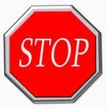 Iron stop sign Stock Photo