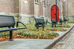 Iron street bench Royalty Free Stock Photos