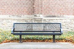 Iron street bench royalty free stock photo