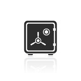 Iron strong box vector icon. Illustration Royalty Free Stock Photo
