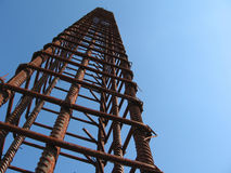 Iron structure. Structure made for a concrete tower Royalty Free Stock Photo