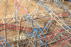 Iron structure of the attraction Stock Photography