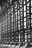 Iron structure black and white Royalty Free Stock Photography
