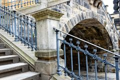 Iron, Structure, Building, Handrail stock image