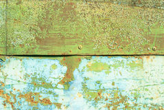 Iron surface is covered with old paint texture background Royalty Free Stock Photos