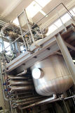 Iron tank. Industrial interior, with big iron tank, chemical use Royalty Free Stock Images