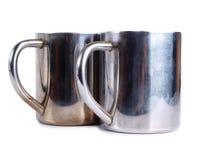 Iron tea cups two Royalty Free Stock Photos