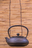 Iron teapot. Is widely used in China during the tang dynasty, at the same time, introduced to Japan, Japan will use this China tea set is keeping so far. Japan Stock Photo