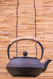 Iron teapot. Is widely used in China during the tang dynasty, at the same time, introduced to Japan, Japan will use this China tea set is keeping so far. Japan Stock Images