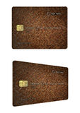 Iron texture credit card design Stock Images